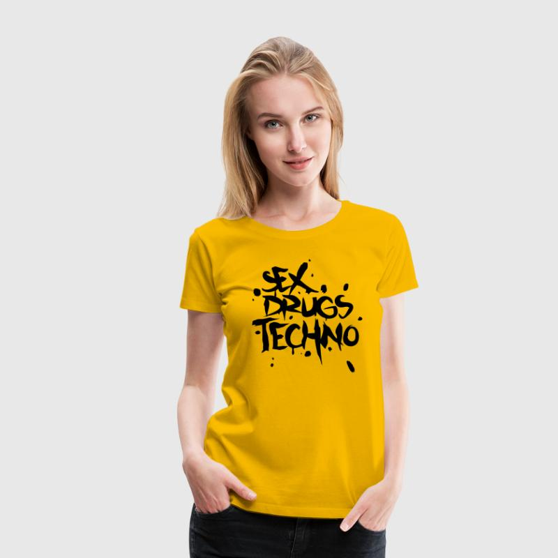 Sex Drugs & Techno T-shirt - Maglietta Premium da donna