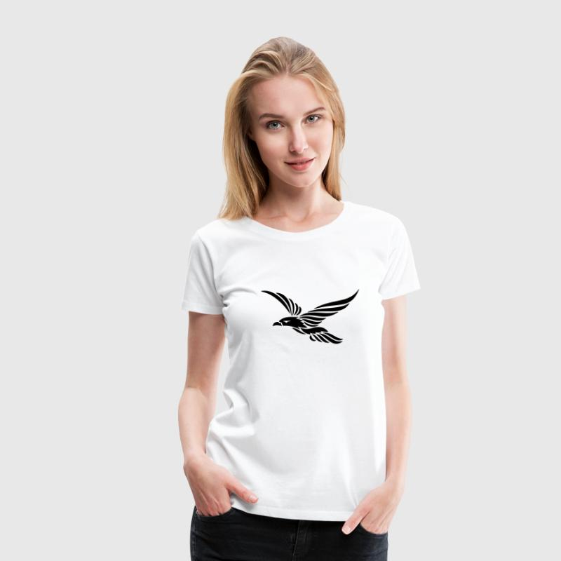 Tribal Rabe 1c T-Shirts - Frauen Premium T-Shirt