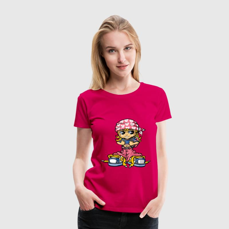 Hip hop girl and bandana - Vrouwen Premium T-shirt