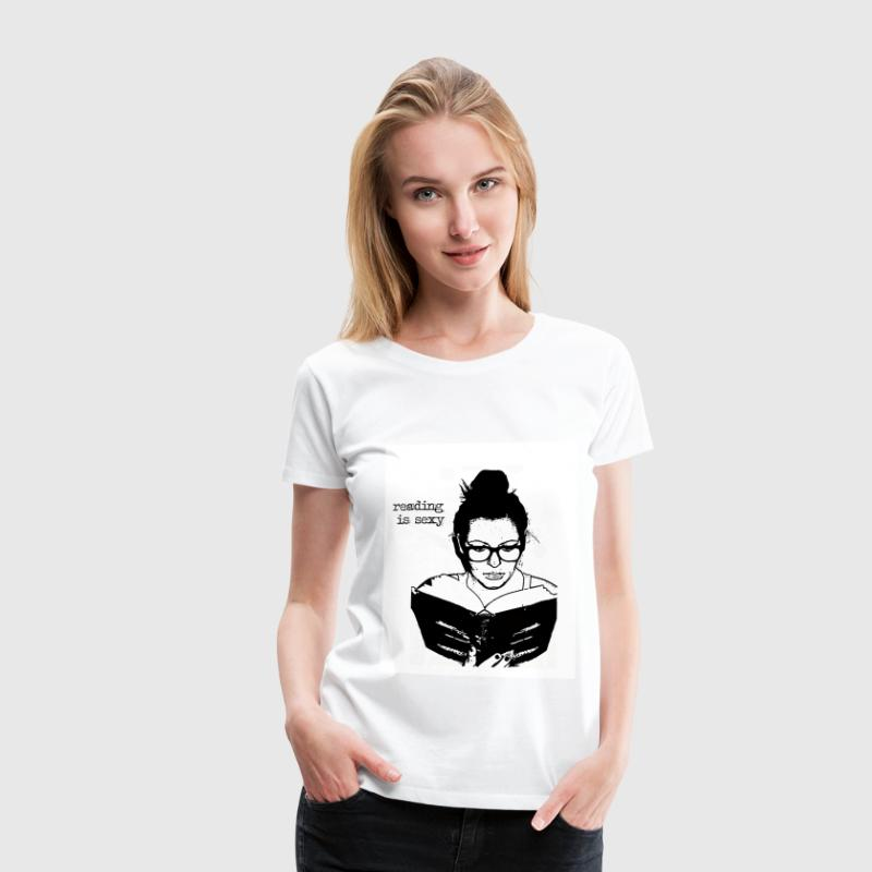 reading is sexy T-Shirts - Frauen Premium T-Shirt