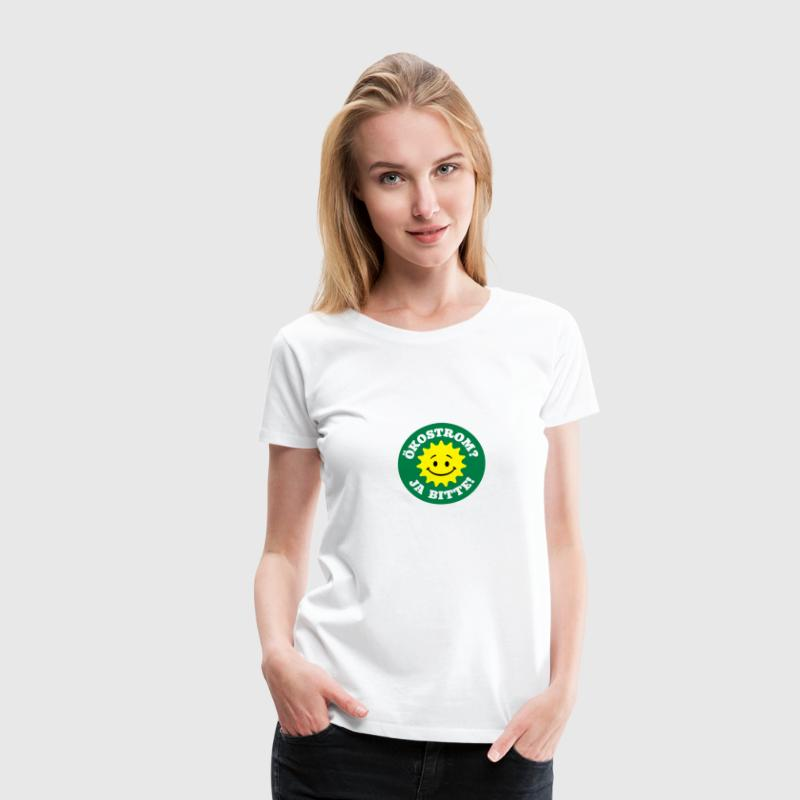 green electricity yes please, nuclear power no - Women's Premium T-Shirt