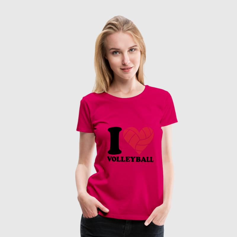 I love Volleyball T-Shirts - Women's Premium T-Shirt