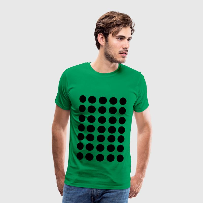 Dots, black dots, Art Fashion Design Dots T-Shirts - Men's Premium T-Shirt