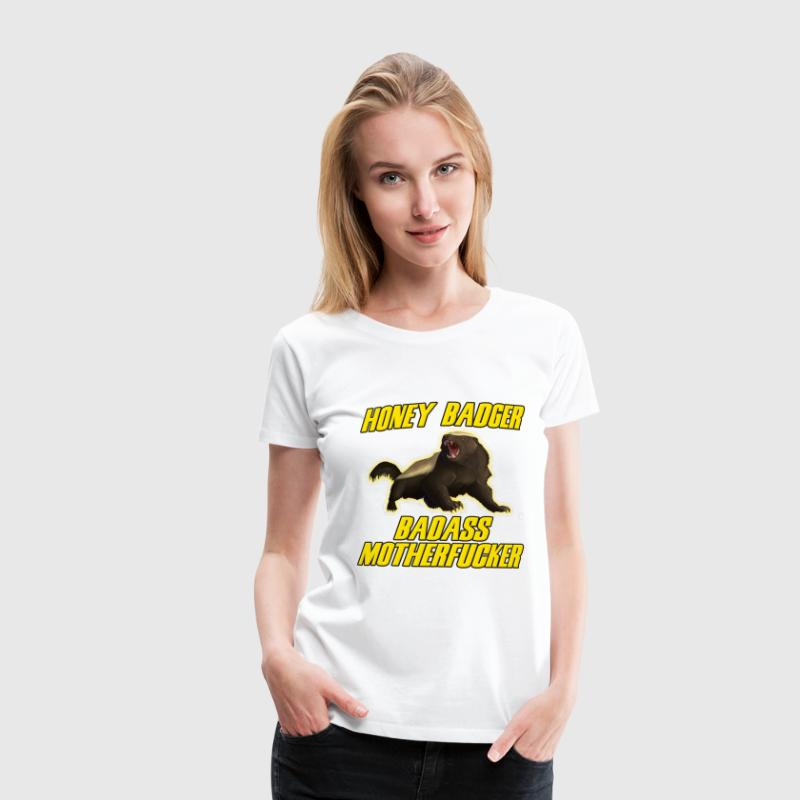 Honey Badger Badass Motherfucker - Premium-T-shirt dam