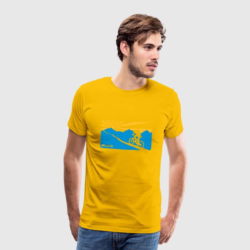 Yellow Mountainbike, trail,  T-Shirts - Men's Premium T-Shirt
