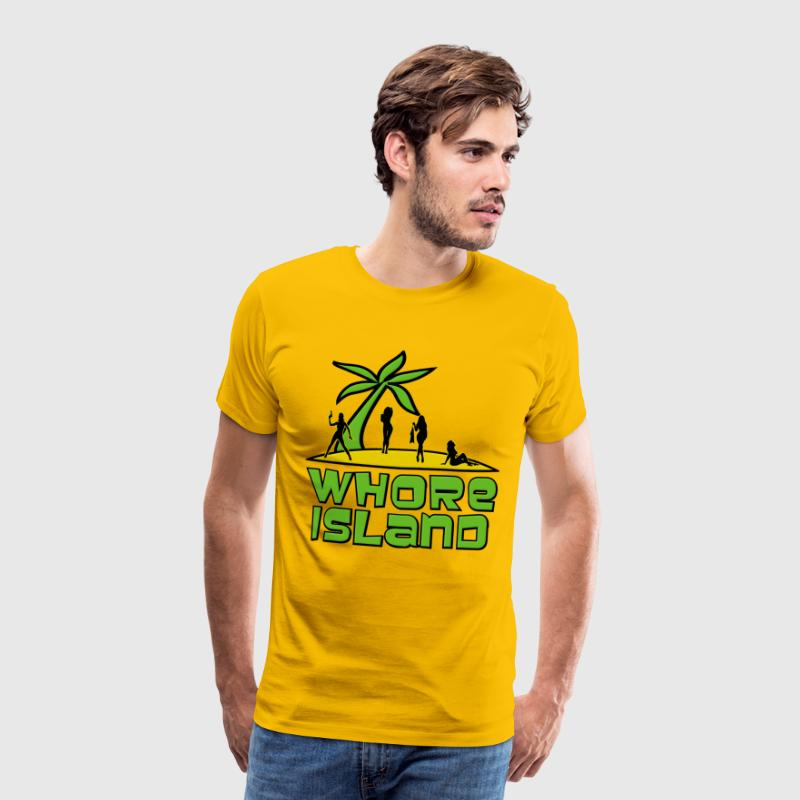 Archer Whore Island T-Shirts - Men's Premium T-Shirt