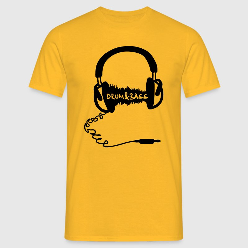 Headphones Audio Wave Motif: Drum & Bass Electronic Music  D N' B Drum n' Bass Drum&Bass T-Shirts - Men's T-Shirt