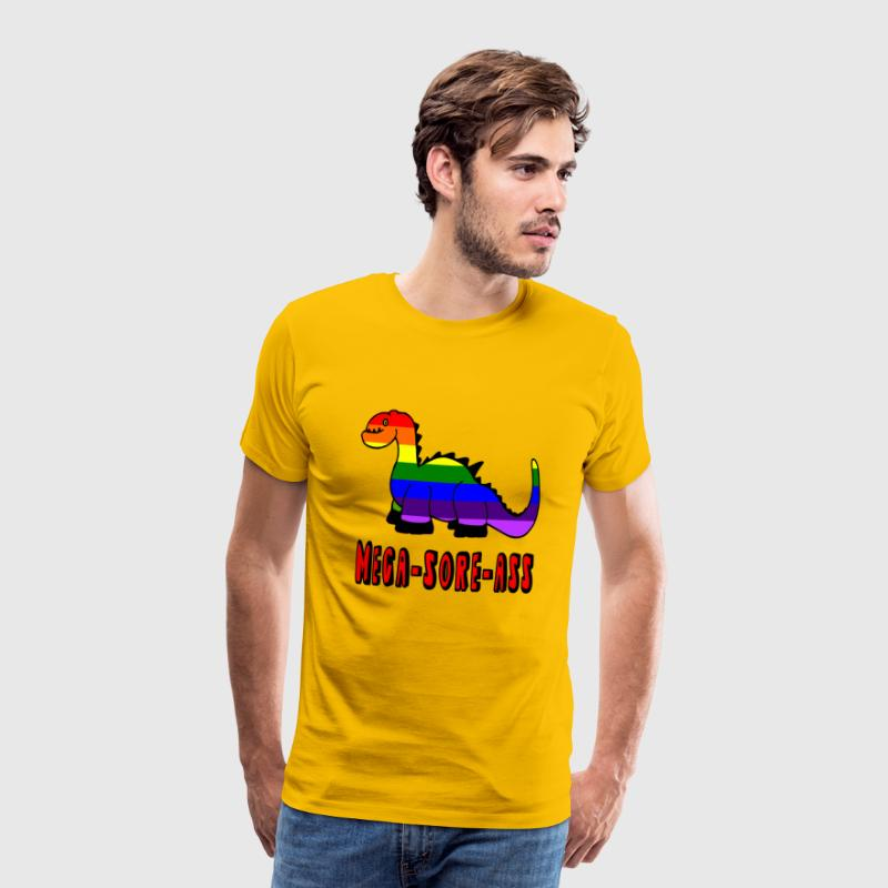 Gay Dinosaur Mega-Sore-Ass T-Shirts - Men's Premium T-Shirt