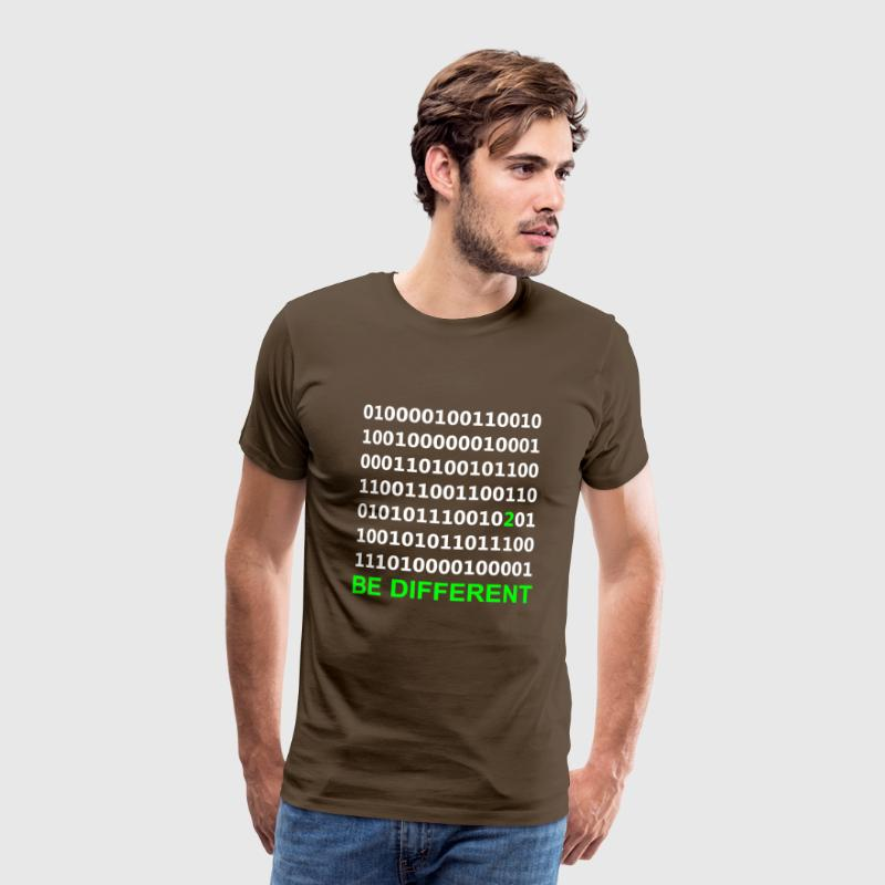 Be Different - Binary - Digitaal T-shirts - Mannen Premium T-shirt