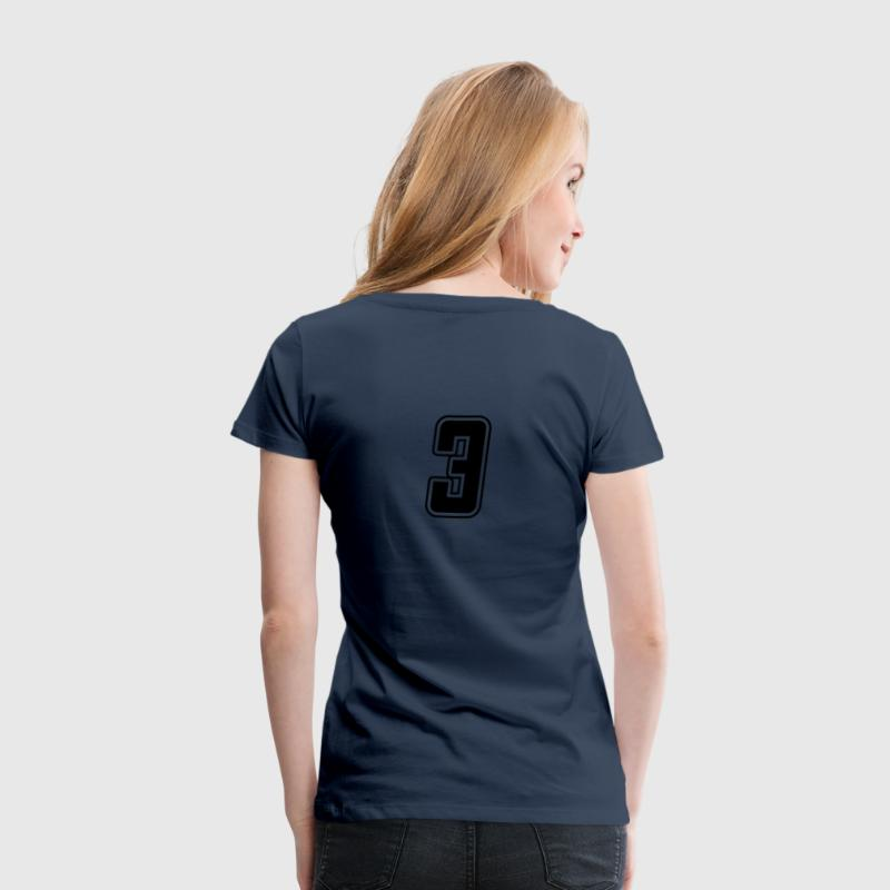 Competition Girl - Startnummer 3 - Frauen Premium T-Shirt