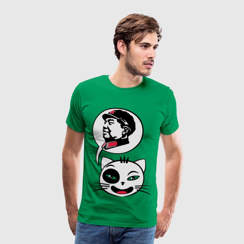 Cat say mao - Männer Premium T-Shirt