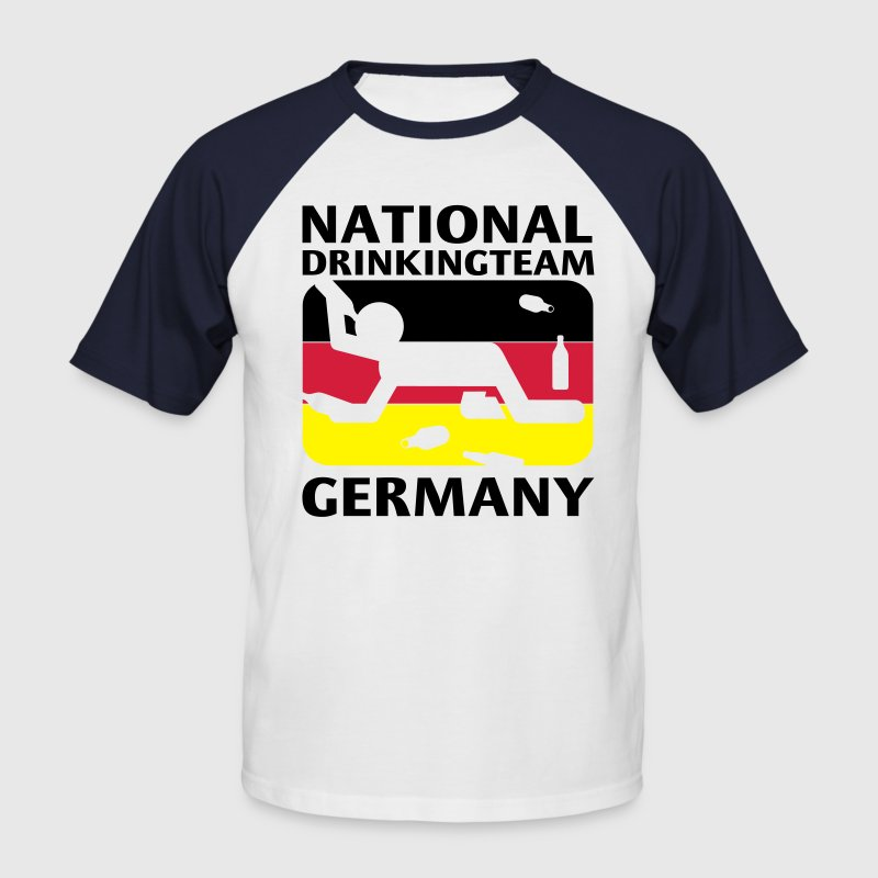 Weiß/rot N.D TEAM GERMANY T-Shirts - Männer Baseball-T-Shirt