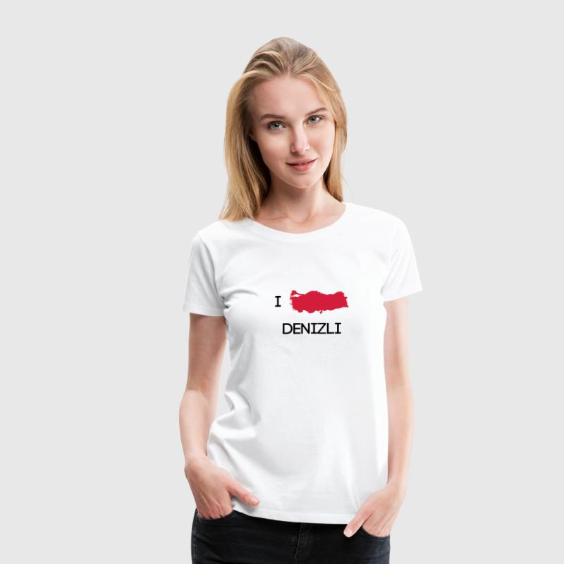 I Love DENIZLI T-Shirts - Frauen Premium T-Shirt