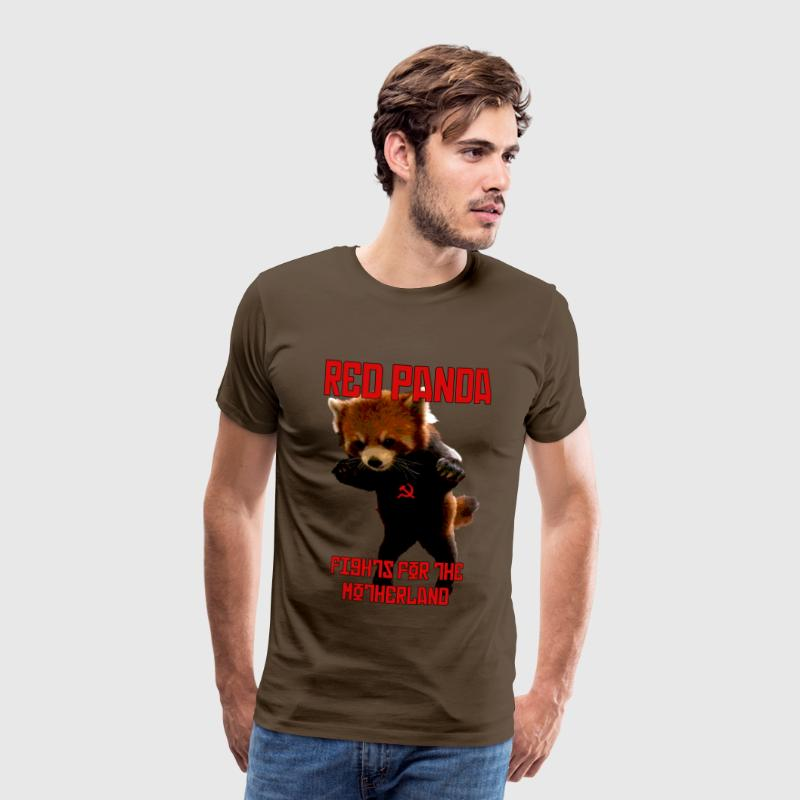 Red Panda Fights For The Motherland T-Shirts - Men's Premium T-Shirt