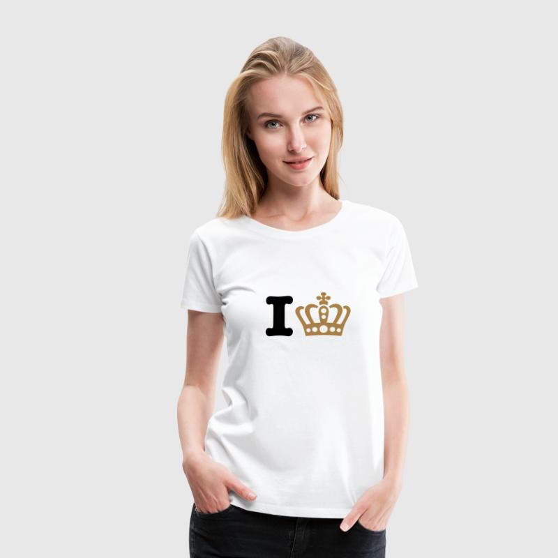 König | Königin | King | Queen | Heart | Herz T-Shirts - Frauen Premium T-Shirt