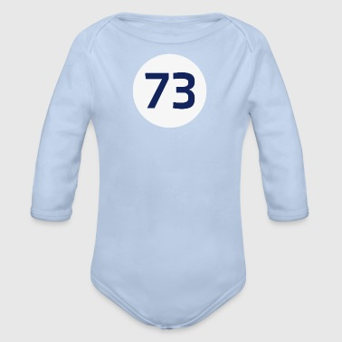 73 the best number Big Bang Zahlenrätsel Theorie - Baby Bio-Langarm-Body