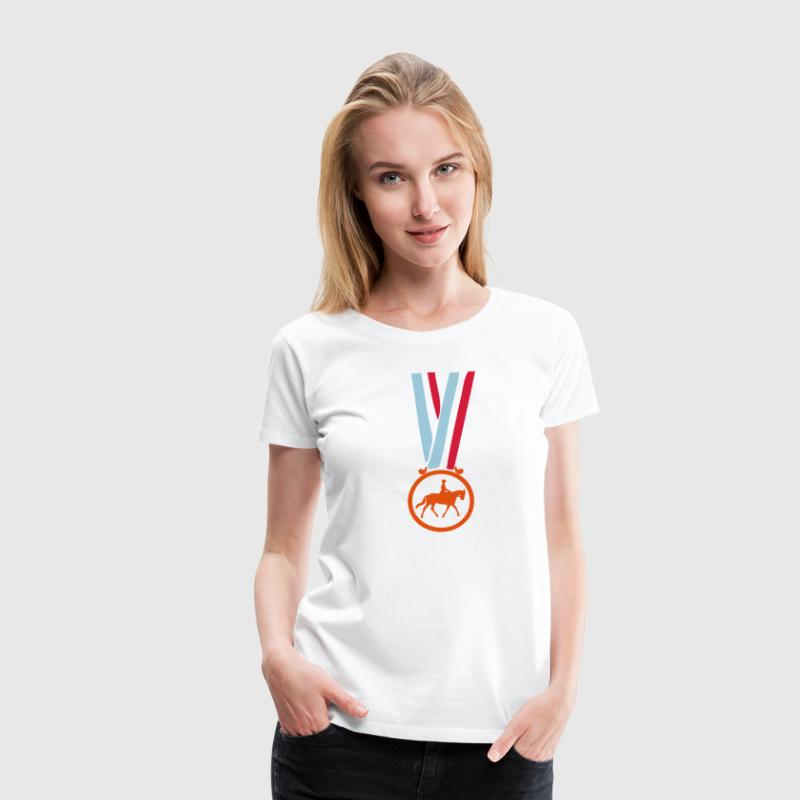 champion medaille equitation Tee shirts - T-shirt Premium Femme