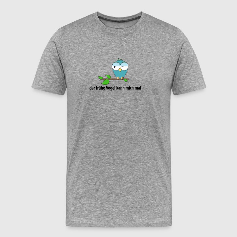 early bird kan kyssa min röv (uggla) - Premium-T-shirt herr