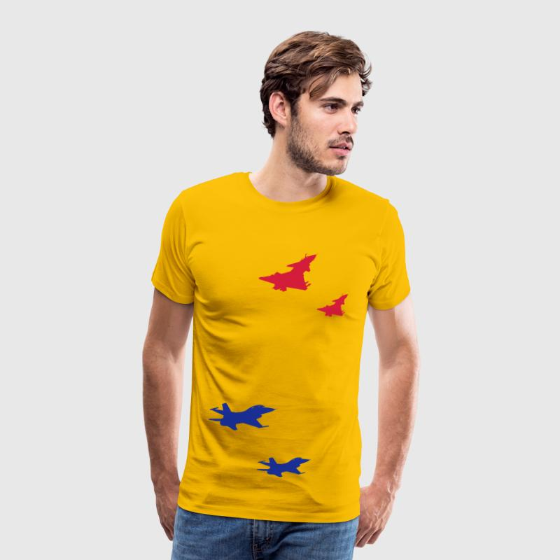 J-10 Vanguard & F-16 Dogfight - Men's Premium T-Shirt
