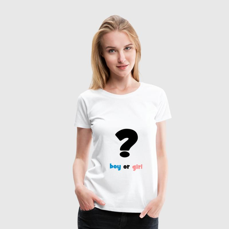 boy or girl ? T-Shirts - Frauen Premium T-Shirt
