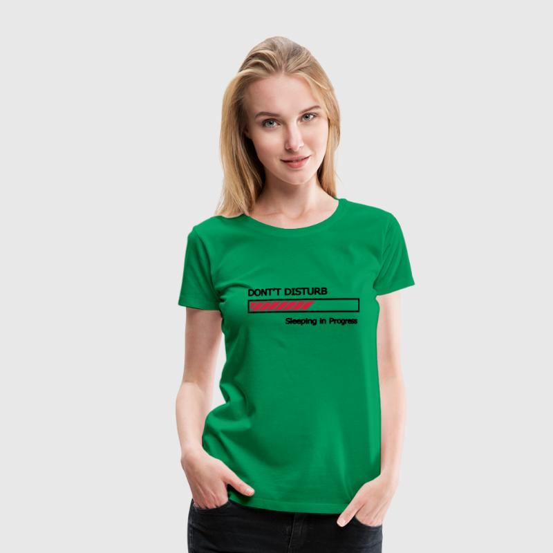Do not Disturb sleeping in progress loading bars - Women's Premium T-Shirt