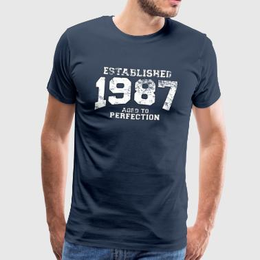 Geburtstag - established 1987 - aged to perfection - Männer Premium T-Shirt
