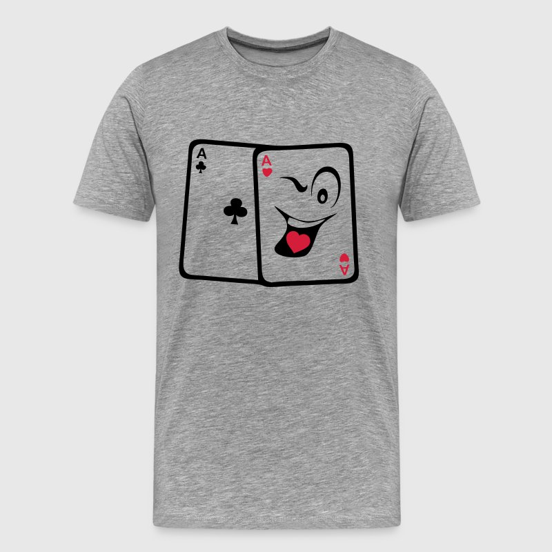 carte poker as paire smiley rigolo Tee shirts - T-shirt Premium Homme