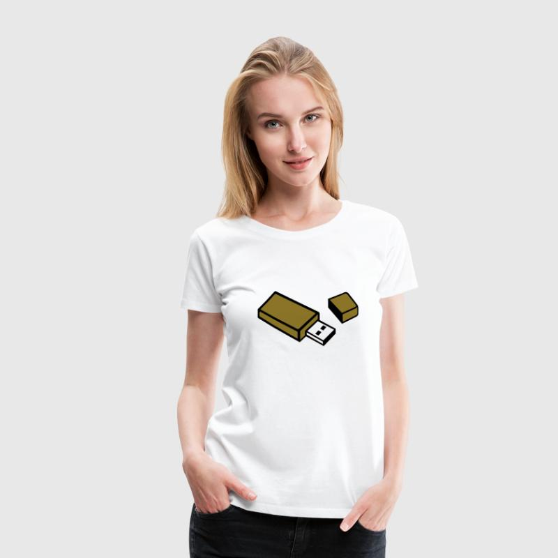 USB Stick T-Shirts - Frauen Premium T-Shirt