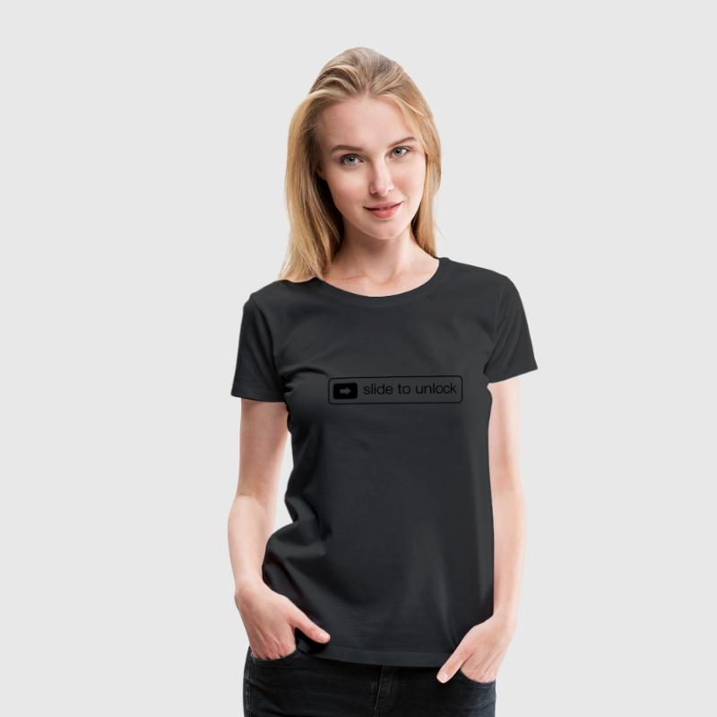 Slide to unlock T-shirts - Vrouwen Premium T-shirt