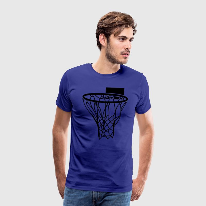 basketball netball hoop sports score T-Shirts - Men's Premium T-Shirt