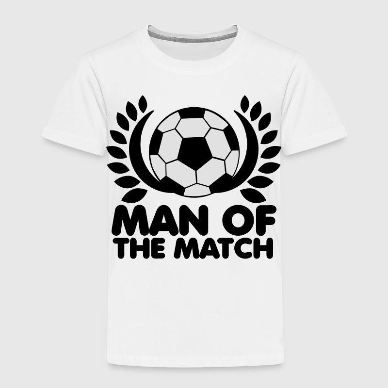 man of the match BEST PLAYER football with wreath Shirts - Kids' Premium T-Shirt