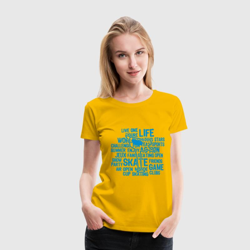 figure skating patinage artistique texte Tee shirts - T-shirt Premium Femme