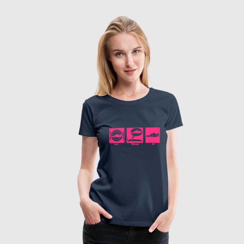 Eat Sleep Play 69 kama1 Position - Frauen Premium T-Shirt