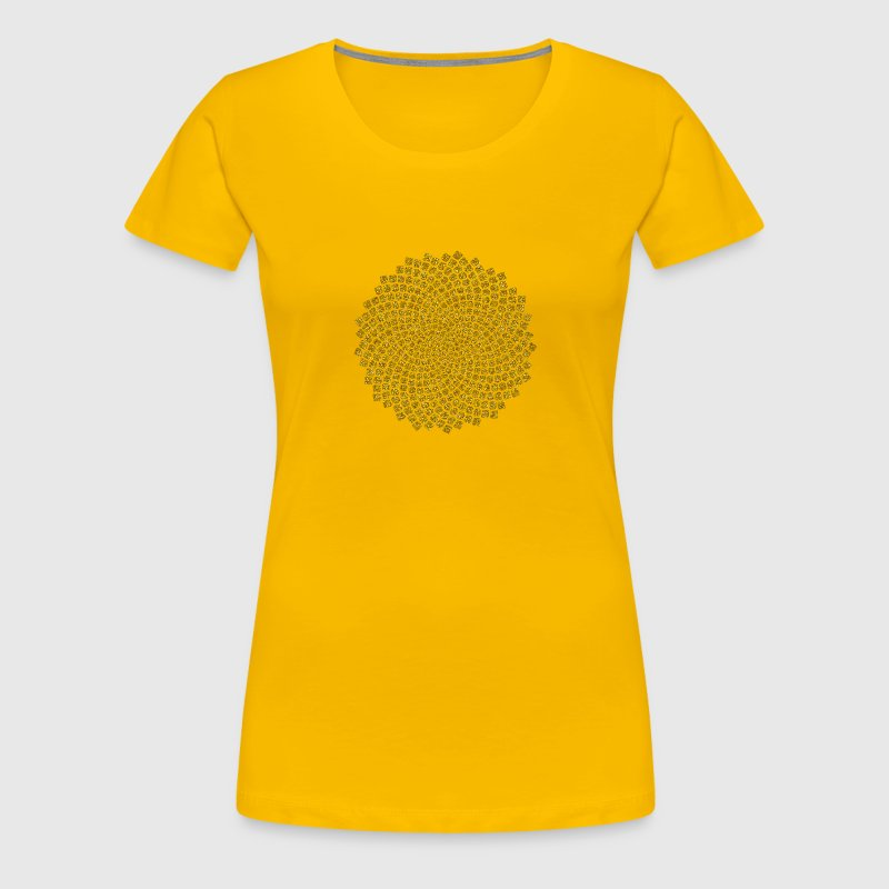sonnenblume fibonacci mathematik goldener schnitt t shirt spreadshirt. Black Bedroom Furniture Sets. Home Design Ideas