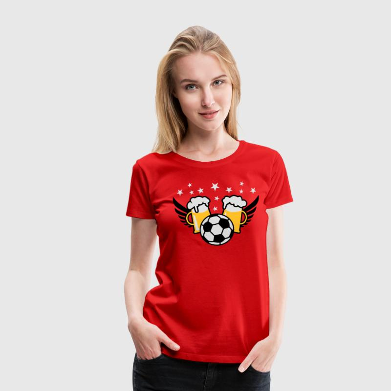 FUSSBALL-Party + Bier Alkohol T-Shirt Frauen - Frauen Premium T-Shirt