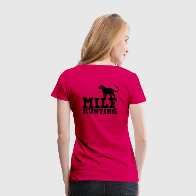 milf hunting with cougar cat tail up T-Shirts - Women's Premium T-Shirt