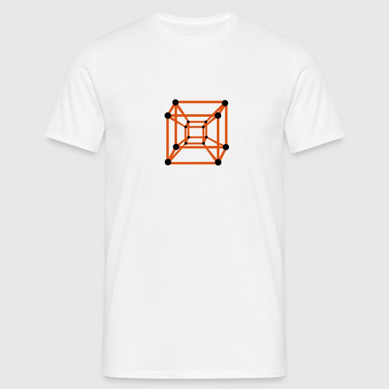 Hypercube 4D - TESSERACT , digital, Symbol - Dimensional Shift, Metatrons Cube,  T-shirts - Herre-T-shirt