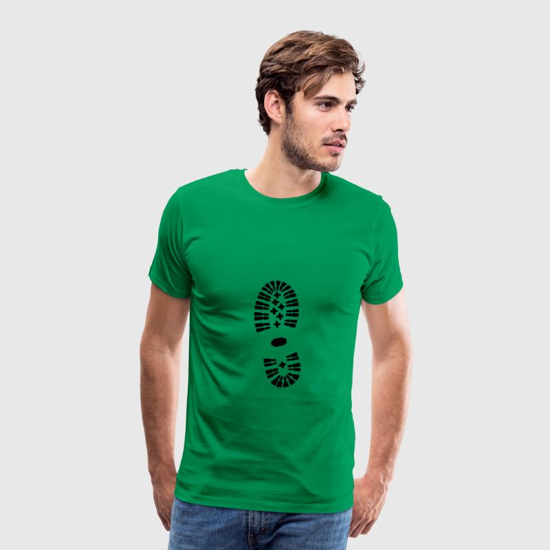 shoe, shoe print, hiking - Men's Premium T-Shirt