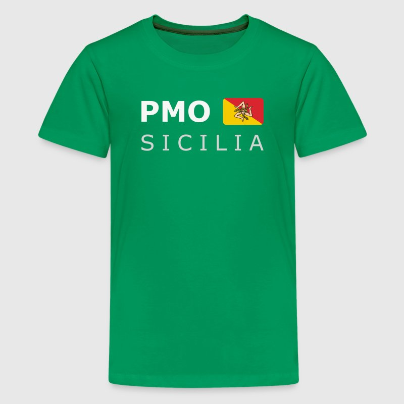 Teenager T-Shirt PMO SICILIA white-lettered - Premium T-skjorte for tenåringer