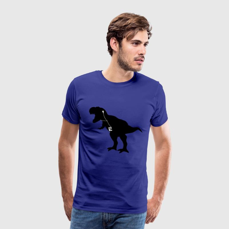 Mens Dancing T-rex T-shirt - Men's Premium T-Shirt