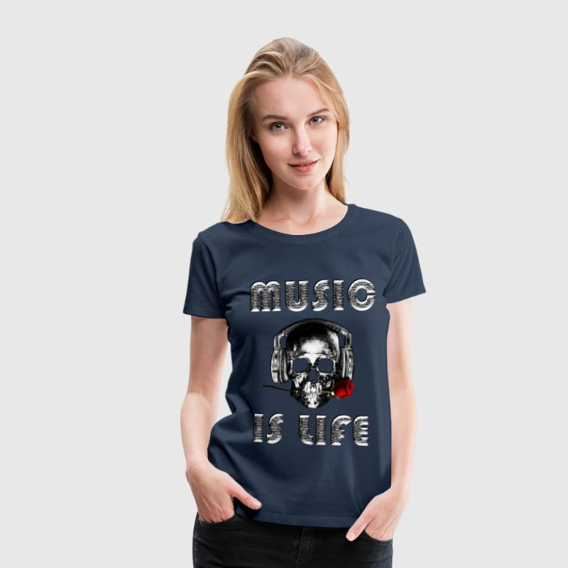 Music is life  - Premium T-skjorte for kvinner