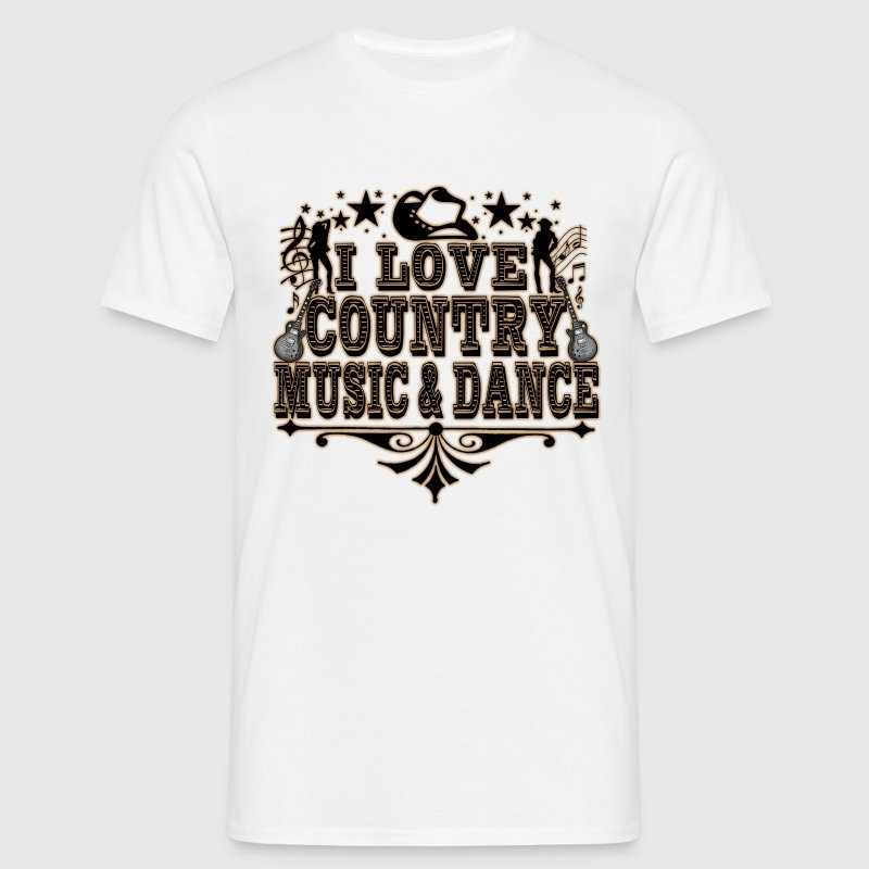 i love country music & dance Tee shirts - T-shirt Homme