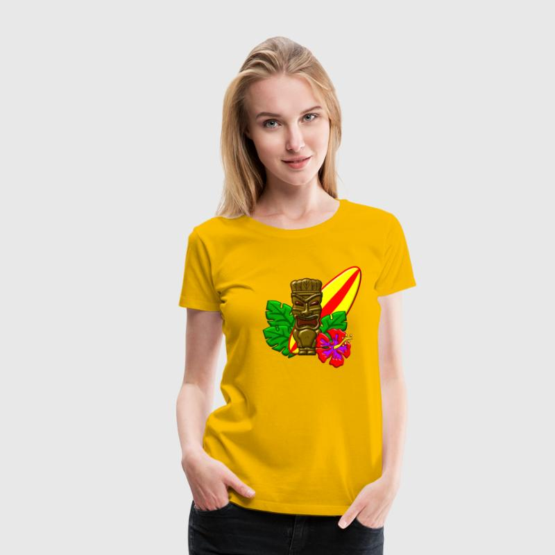 Surfing Aloha Hawaii T-Shirts - Frauen Premium T-Shirt