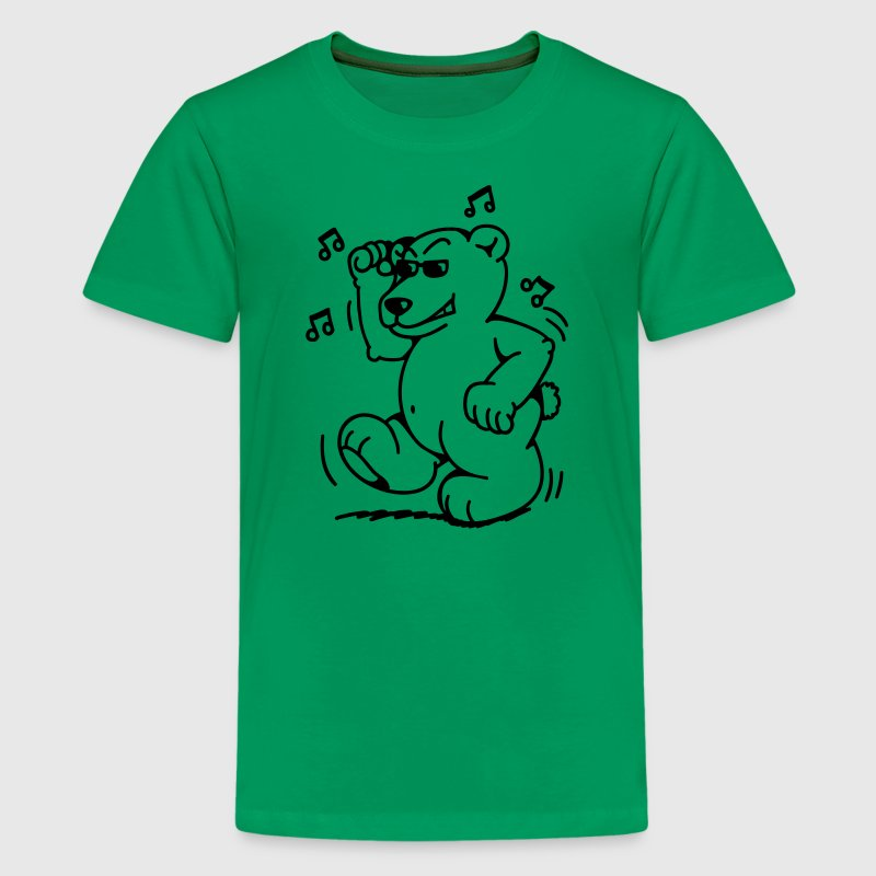 Fat little dancing bear Kids' Shirts - Teenage Premium T-Shirt