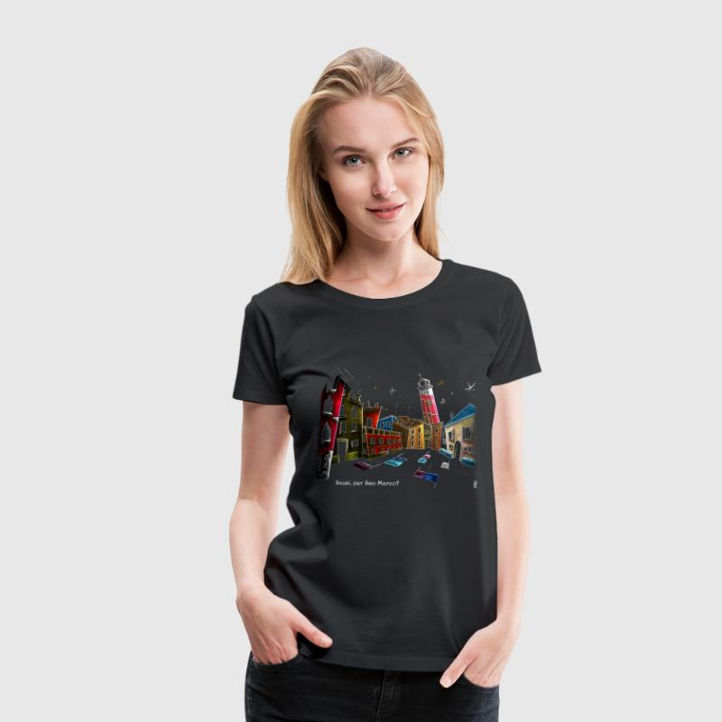 Woman T-shirt Art Night Design - Venice Italy - Women's Premium T-Shirt