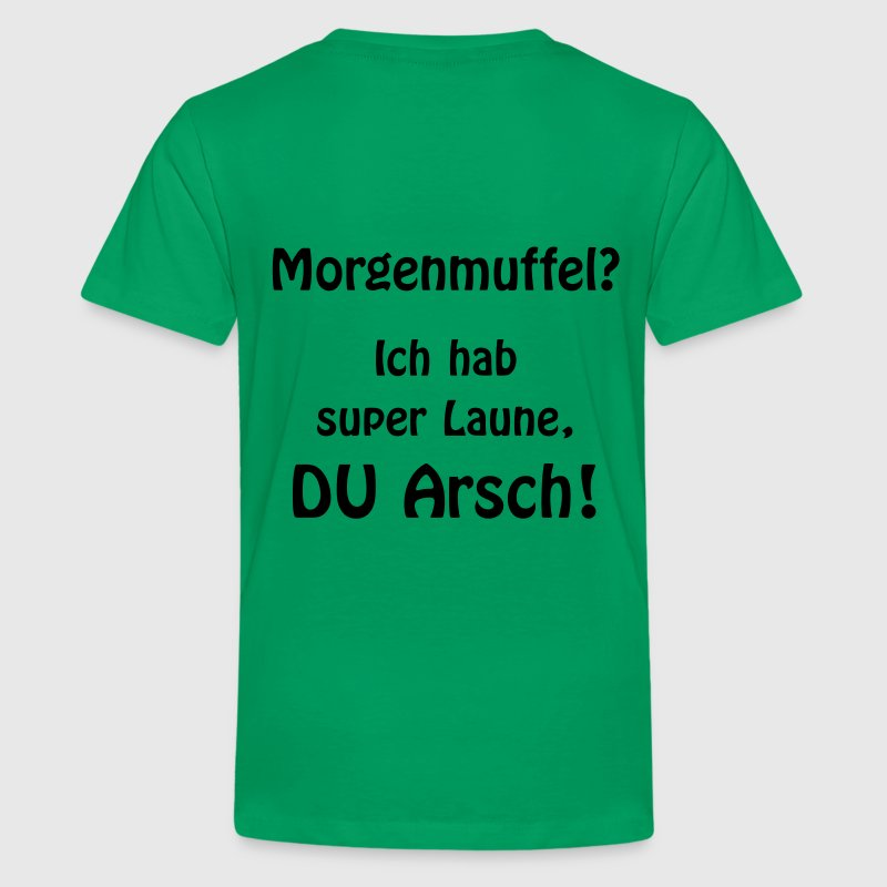 Morgenmuffel? - Teenager Premium T-Shirt