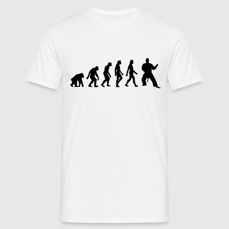 Weiß Evolution of Judo (1c) T-Shirts - Männer T-Shirt