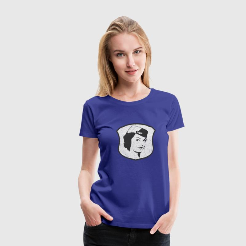 Flight Attendant Stewardess (oldstyle) - Frauen Premium T-Shirt