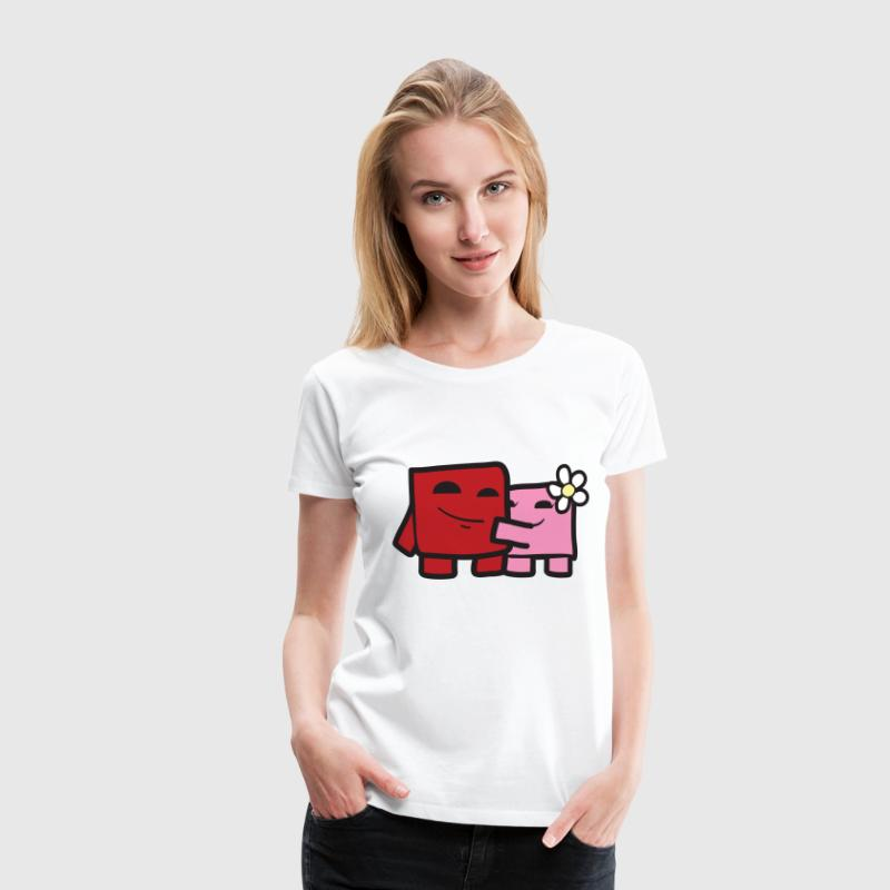 Super Meat Boy & Bandage Girl  - Frauen Premium T-Shirt