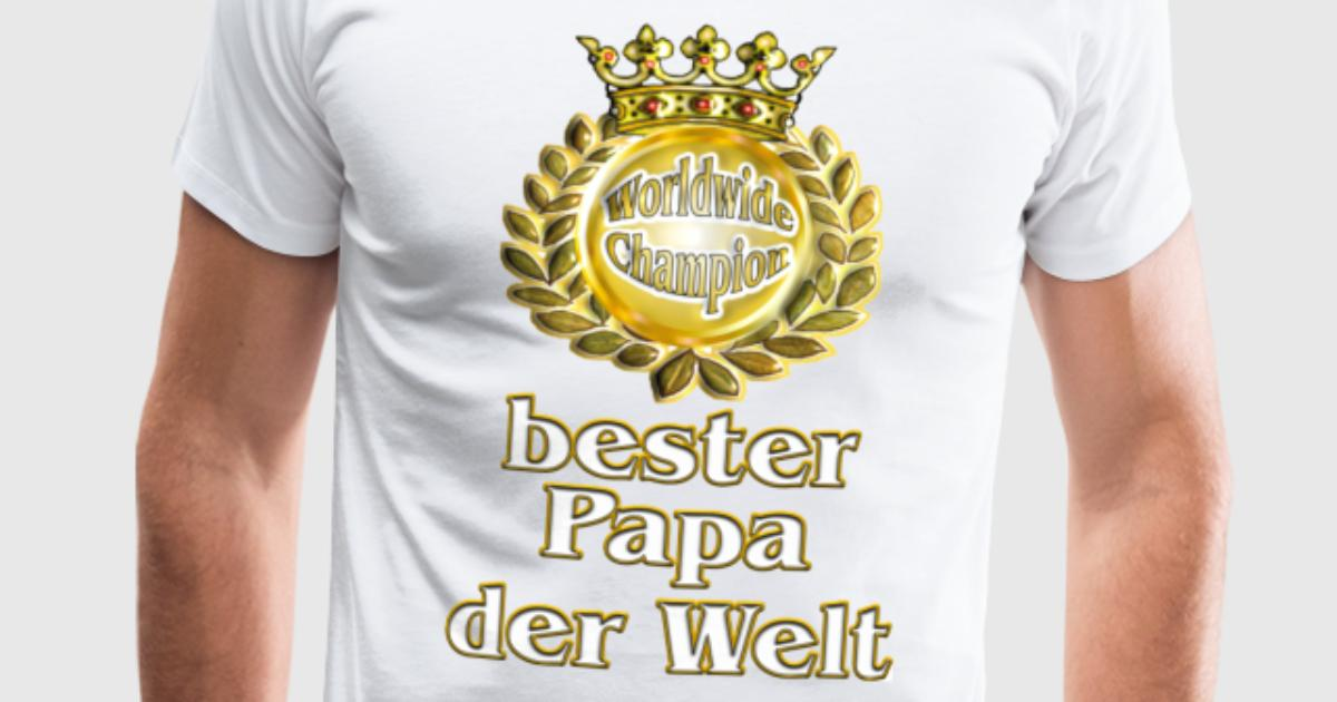 bester papa der welt goldene serie t shirt spreadshirt. Black Bedroom Furniture Sets. Home Design Ideas